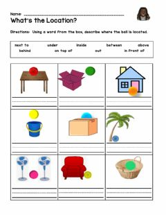 Interactive worksheet What's The Location
