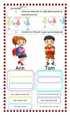 Interactive worksheet His and her