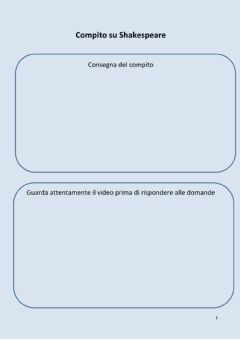 Interactive worksheet Compito di apprendimento su William Shakespeare