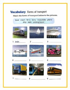 Interactive worksheet Forms of transport