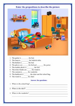Interactive worksheet Choose the correct preposition