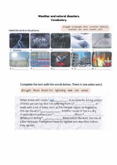 Interactive worksheet Weather and natural disasters