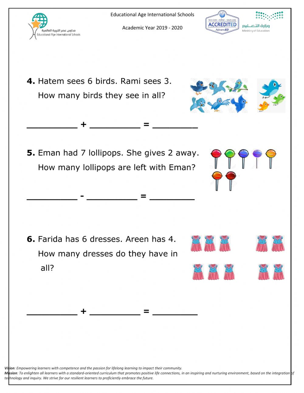 Math live worksheet add and subtract Wed 16 Sep 2020 ...