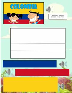 Interactive worksheet Bandera colombia