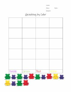 Interactive worksheet Graphing bears by color