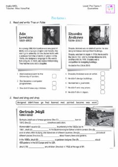 Interactive worksheet Pre teens 1 test