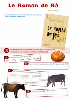 Interactive worksheet Le Roman de Râ - épisode 8