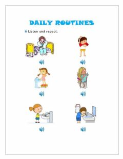 Interactive worksheet Daily routines
