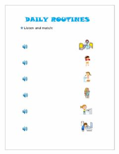 Interactive worksheet Daiky routines