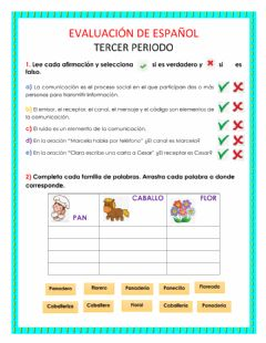 Interactive worksheet Español 3 periodo