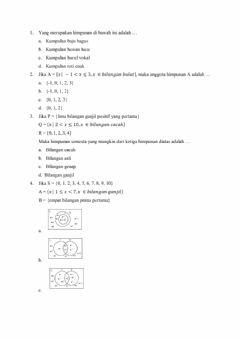 Interactive worksheet Himpunan