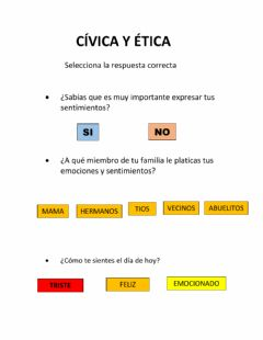 Interactive worksheet Tarea