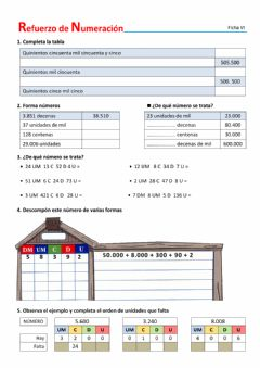 Interactive worksheet Refuerzo de numeración - VI