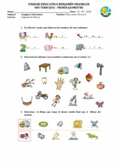 Interactive worksheet Mid term quiz - viernes casa