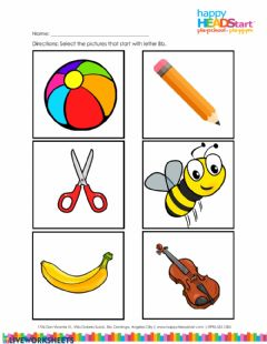Interactive worksheet Letter B sound