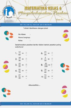 Interactive worksheet Pecahan