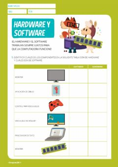 Interactive worksheet Hardware y Software