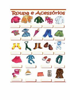 Interactive worksheet As roupas