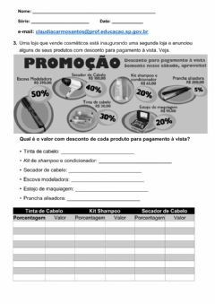 Interactive worksheet Porcentagem - Parte 2