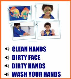 Interactive worksheet Clean - Dirty - Face - Hands