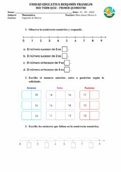 Interactive worksheet Mid term quiz 2 math viernes