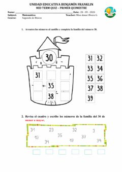 Interactive worksheet Mid ter quiz casa lunes