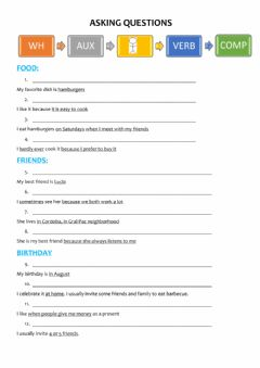 Interactive worksheet Asking questions simple present
