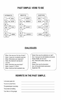Interactive worksheet 1 Verb to be past - was,were