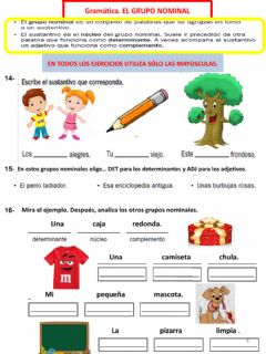 Interactive worksheet LENGUA 6-FICHA GRUPO NOMINAL