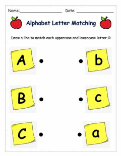 Interactive worksheet Letter Matching (ABC)