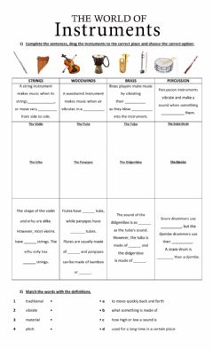 Interactive worksheet The world of the instruments