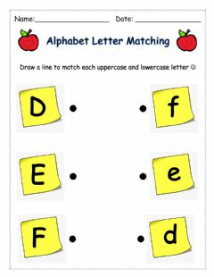 Interactive worksheet Letter Matching (DEF)