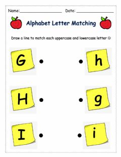 Interactive worksheet Letter Matching (GHI)