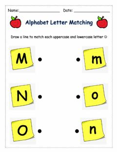 Interactive worksheet Letter Matching (MNO)