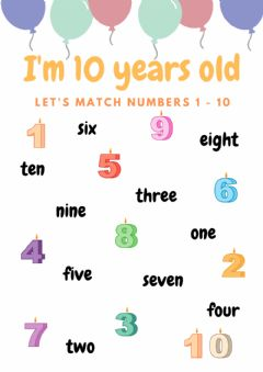 Ficha interactiva 3rd - I'm 10 Years Old