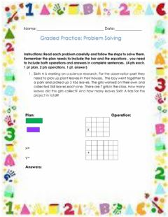 Interactive worksheet Graded Practice Problem Solving