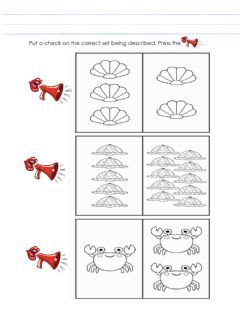Interactive worksheet Concept of more and less