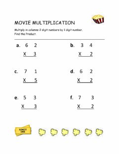 Interactive worksheet Movie Multiplication