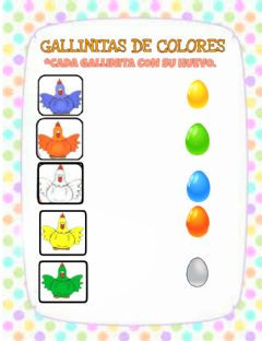 Interactive worksheet Gallinitas de colores