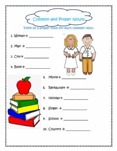 Interactive worksheet Noun Practice