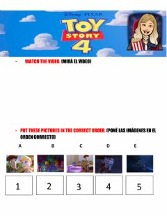 Interactive worksheet Toy story 4