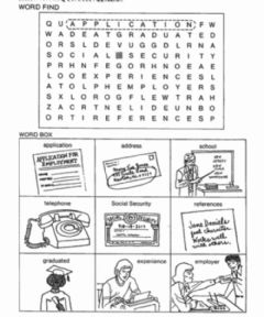 Interactive worksheet Application Words Word Search