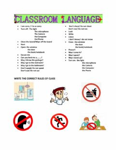 Interactive worksheet Use the Language