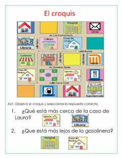 Interactive worksheet El croquis