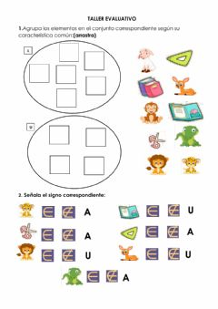 Interactive worksheet Los conjuntos