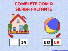 Ficha interactiva Complete as palavras