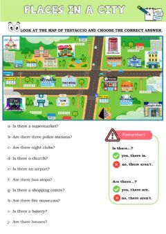 Ficha interactiva Places in the city