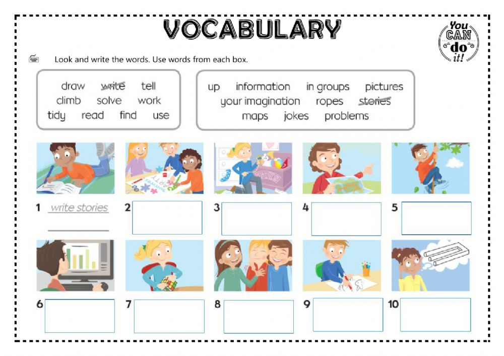 Look And Write Exercise For Elementary