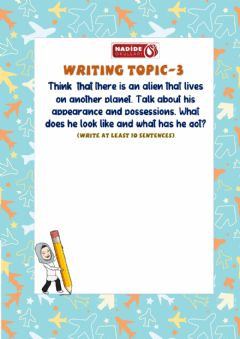 Ficha interactiva Writing-3 for 5th Grades