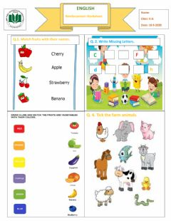 Interactive worksheet Worksheet:english